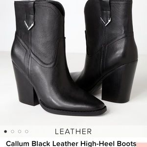 Kendall + Kylie black leather booties